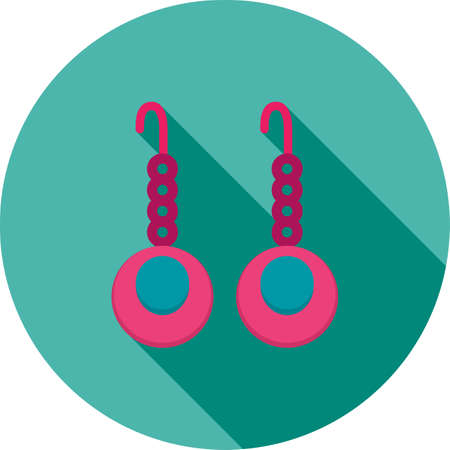 earrings: Earrings, beautiful, jewelry icon vector image. Can also be used for clothes and fashion. Suitable for web apps, mobile apps and print media. Illustration