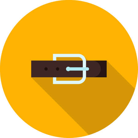 straps: Belt, leather, buckle icon vector image. Can also be used for clothes and fashion. Suitable for web apps, mobile apps and print media.