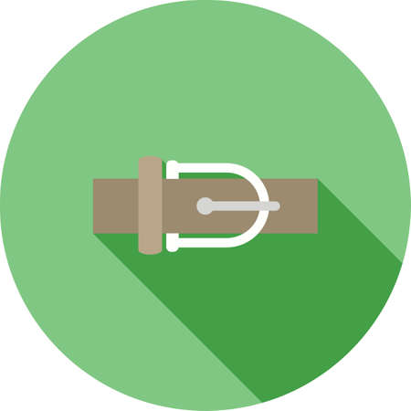 buckle: Belt, leather, buckle icon vector image. Can also be used for clothes and fashion. Suitable for web apps, mobile apps and print media.