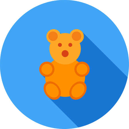 stuffed: Teddy, bear, stuffed icon vector image. Can also be used for household objects. Suitable for use on web apps, mobile apps and print media.