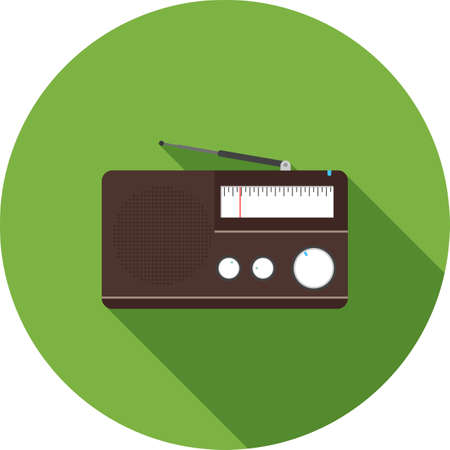Radio, stereo, music icon vector image. Can also be used for household objects. Suitable for use on web apps, mobile apps and print media.
