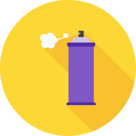 hairspray: Spray, bottle, hairspray icon vector image. Can also be used for household objects. Suitable for use on web apps, mobile apps and print media.