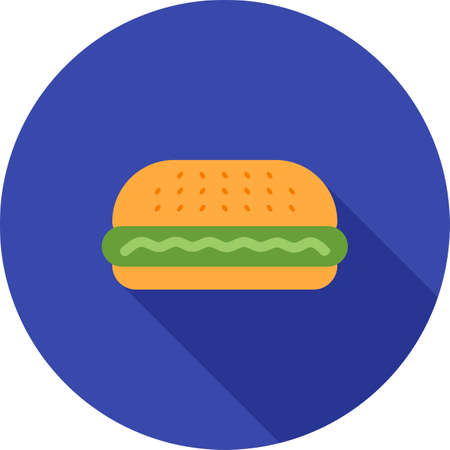 hamburger and fries: Burger, hamburger, fries icon vector image. Can also be used for household objects. Suitable for use on web apps, mobile apps and print media.