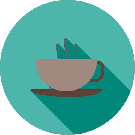 household objects: Coffee, cup, black icon vector image. Can also be used for household objects. Suitable for use on web apps, mobile apps and print media. Illustration