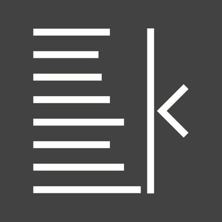 bar tool set: Text, right, align icon vector image. Can also be used for text editing. Suitable for use on web apps, mobile apps and print media. Illustration