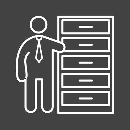 media distribution: Inventory, distribution, warehouse icon vector image. Can also be used for humans. Suitable for use on web apps, mobile apps and print media.