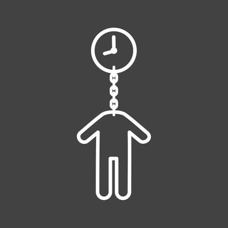 Tijd, geld, vector afbeelding timeout icoon. Ook geschikt voor de mens. Geschikt voor gebruik op het web apps, mobiele apps en gedrukte media. Stock Illustratie