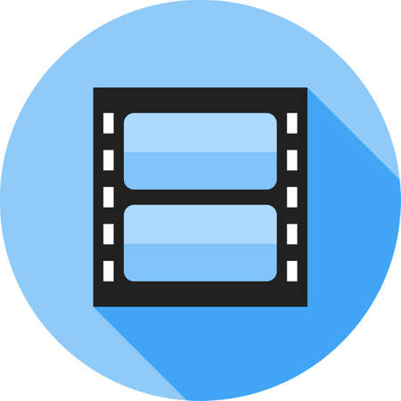 video reel: Video, reel, film icon vector image. Can also be used for multimedia. Suitable for use on web apps, mobile apps and print media.