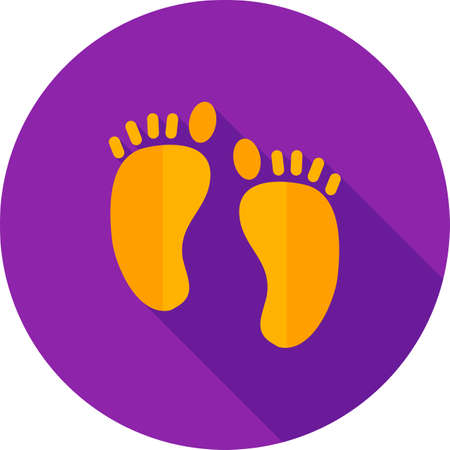 body image: Feet, nail, body icon vector image. Can also be used for summer, recreation and fun. Suitable for use on mobile apps, web apps and print media. Illustration