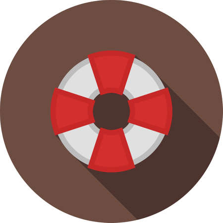 life saver: Swimming, adventure, water icon vector image.Can also be used for summer, recreation and fun. Suitable for use on mobile apps, web apps and print media.