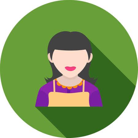 empleadas domesticas: Servicio de limpieza, mucama, servicio de imágenes de iconos de vectores. También se puede utilizar para profesionales. Adecuado para aplicaciones web, aplicaciones móviles y los medios impresos.