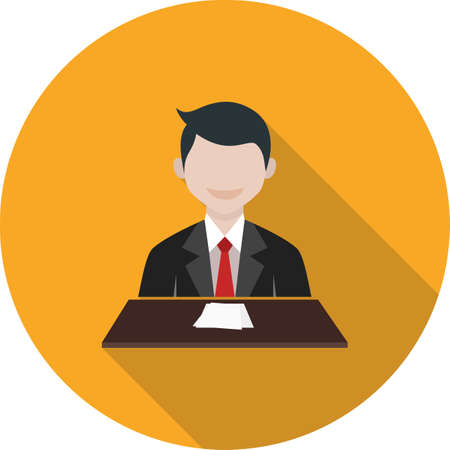 newscast: News, tv, anchor icon vector image. Can also be used for professionals. Suitable for web apps, mobile apps and print media.