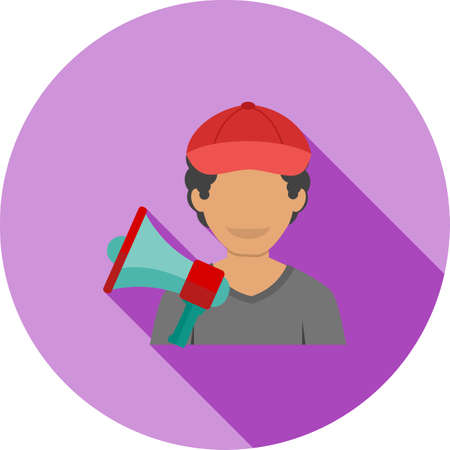 videographer: Director, video, production icon vector image. Can also be used for professionals. Suitable for web apps, mobile apps and print media.