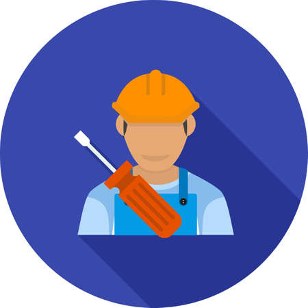 electrical engineer: Electrical, electrician, panel icon vector image. Can also be used for professionals. Suitable for web apps, mobile apps and print media.