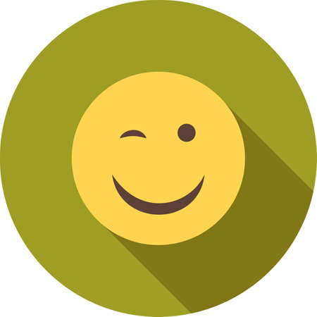 wink: Wink, man, winking icon vector image. Can also be used for emotions and halloween. Suitable for mobile apps, web apps and print media. Illustration