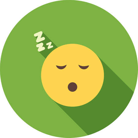 Sleepy, tired, sleeping icon vector image. Can also be used for emotions and halloween. Suitable for mobile apps, web apps and print media.