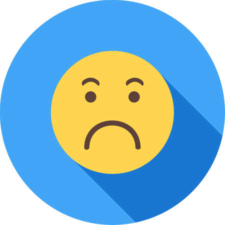 worrying: Worried, angry, expression icon vector image. Can also be used for emotions and halloween. Suitable for mobile apps, web apps and print media. Illustration