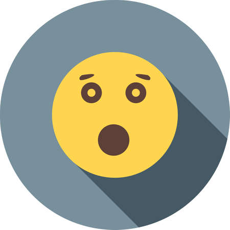 frustrate: Surprised, shock, expression icon vector image. Can also be used for emotions and halloween. Suitable for mobile apps, web apps and print media. Illustration