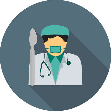 surgeon mask: Surgeon, doctor, hospital icon vector image. Can also be used for professionals. Suitable for web apps, mobile apps and print media. Illustration