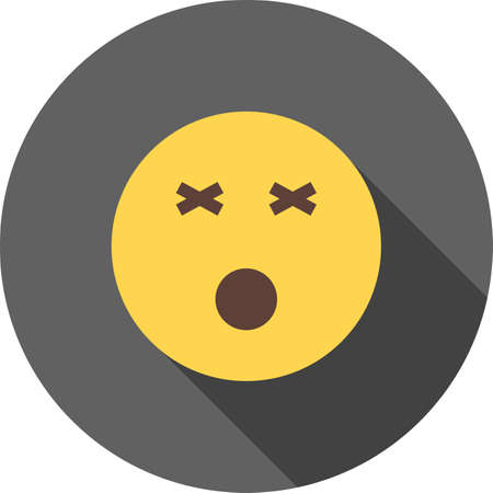 dizziness: Dizzy, dizziness, head icon vector image. Can also be used for emotions and halloween. Suitable for mobile apps, web apps and print media.