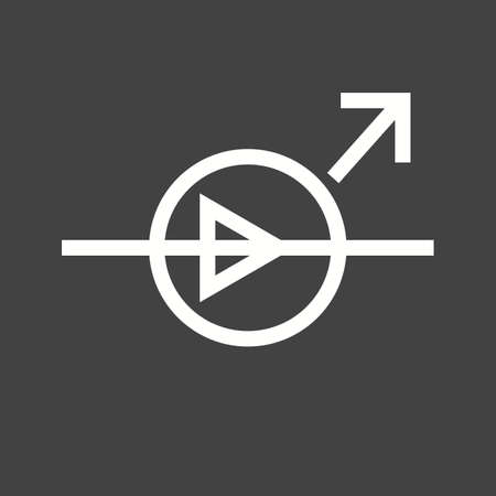 Diode, equipment, light icon vector image. Can also be used for electric circuits. Suitable for use on web apps, mobile apps and print media. Illustration