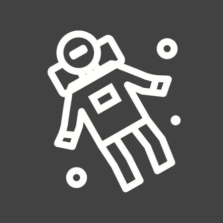 to gravity: Space, astronaut, spaceman icon vector image.Can also be used for astronomy. Suitable for use on web apps, mobile apps and print media.