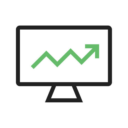estimating: Market, analysis, search icon vector image. Can also be used for marketing. Suitable for use on web apps, mobile apps and print media. Illustration