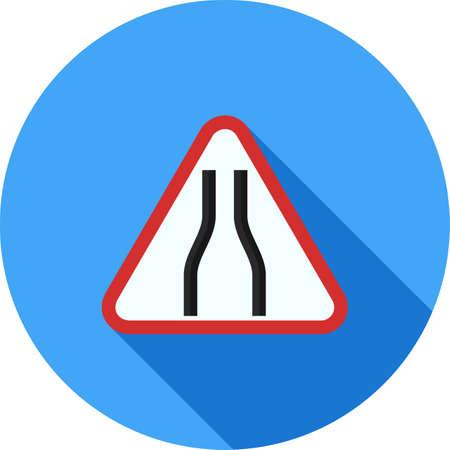 Teken, verkeer pictogram vector afbeelding. Kan ook worden gebruikt voor verkeersborden. Geschikt voor web-apps, mobiele apps en gedrukte media.
