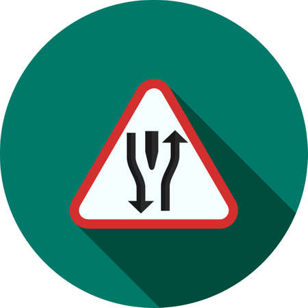 open road: Road, straight, open icon vector image. Can also be used for traffic signs. Suitable for web apps, mobile apps and print media. Illustration