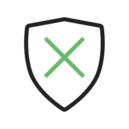 unprotected: Unprotected, unsafe, alert  icon vector image.Can also be used for security. Suitable for mobile apps, web apps and print media.
