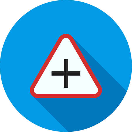 cross road: Road, cross, city icon vector image. Can also be used for traffic signs. Suitable for web apps, mobile apps and print media.