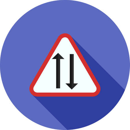 highway tunnels: Way, sign, highway icon vector image. Can also be used for traffic signs. Suitable for web apps, mobile apps and print media.