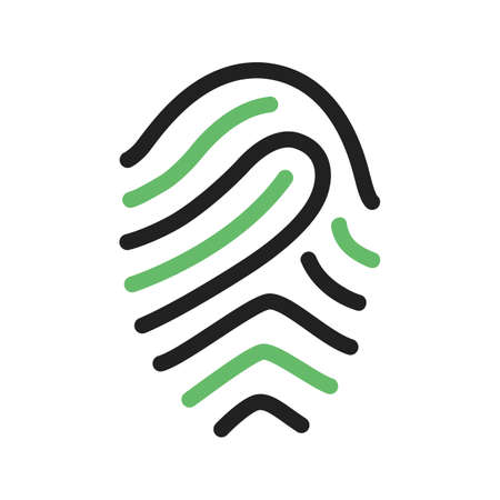 odcisk kciuka: Fingerprint, print, unique icon vector image.Can also be used for security. Suitable for mobile apps, web apps and print media.