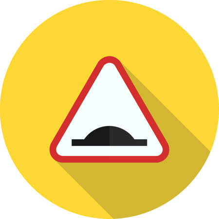 bumpy: Road, warning, sign icon vector image. Can also be used for traffic signs. Suitable for web apps, mobile apps and print media.