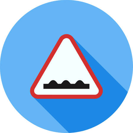 danger ahead: Road, sign, rough icon vector image. Can also be used for traffic signs. Suitable for web apps, mobile apps and print media.