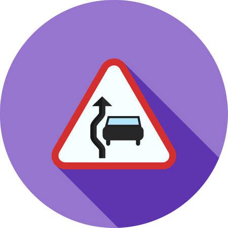 Ondertekenen, verkeer, pictogram vector inhalen. Kan ook worden gebruikt voor verkeersborden. Geschikt voor web apps, mobiele apps en gedrukte media.