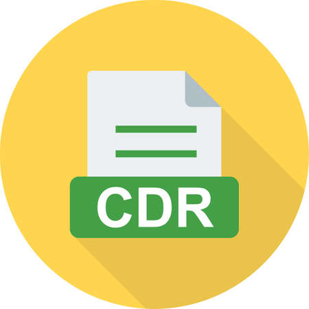 cdr: CDR, blank, cd icon vector image. Can also be used for file format, design and storage. Suitable for mobile apps, web apps and print media.
