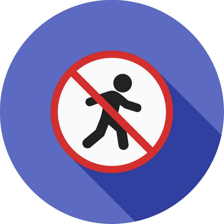 unauthorised: No, sign, pedestrian icon vector image. Can also be used for traffic signs. Suitable for web apps, mobile apps and print media.