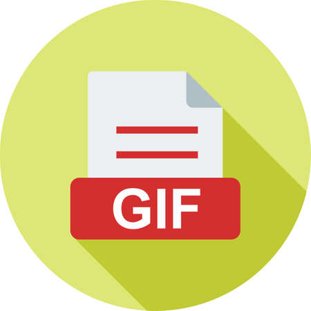 gif: GIF, website, navigation icon vector image. Can also be used for file format, design and storage. Suitable for mobile apps, web apps and print media. Illustration