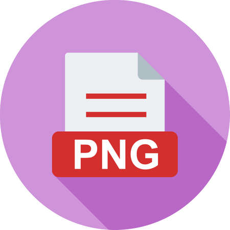 png: PNG, file, extension icon vector image. Can also be used for file format, design and storage. Suitable for mobile apps, web apps and print media.