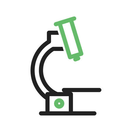 microscope lens: Microscope, laboratory, research icon vector image. Can also be used for stationery. Suitable for use on web apps, mobile apps and print media. Illustration