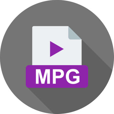 mpg: MPG, player, movie icon vector image. Can also be used for file format, design and storage. Suitable for mobile apps, web apps and print media.