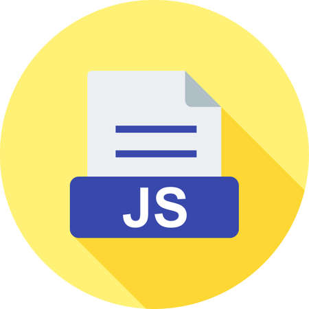 htm: JS, file, web icon vector image. Can also be used for file format, design and storage. Suitable for mobile apps, web apps and print media.