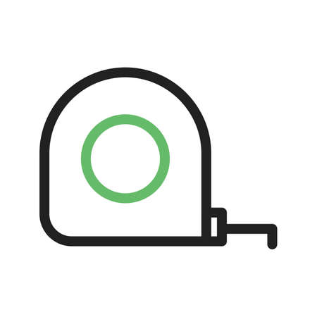 exact: Tape, measure, meters icon vector image. Can also be used for stationery. Suitable for use on web apps, mobile apps and print media. Illustration