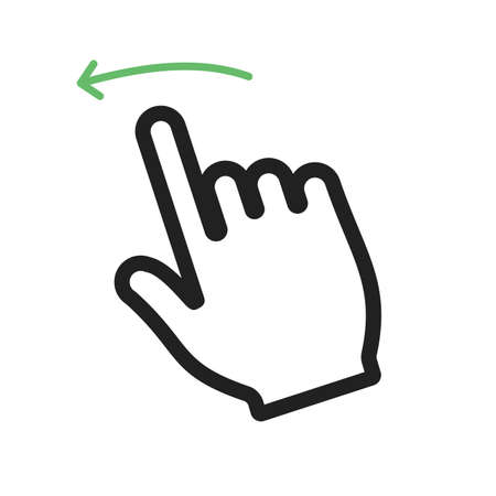 swipe: Swipe, left, touch icon vector image.Can also be used for user touch gestures. Suitable for mobile apps, web apps and print media.