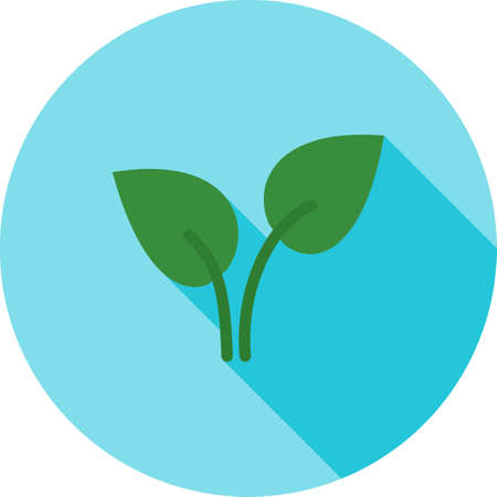 be green: Leaf, leaves, green icon vector image.Can also be used for gardening. Suitable for mobile apps, web apps and print media.