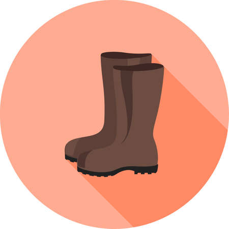 deisgn: Boots, rubber, gardening icon vector image.Can also be used for gardening. Suitable for mobile apps, web apps and print media.