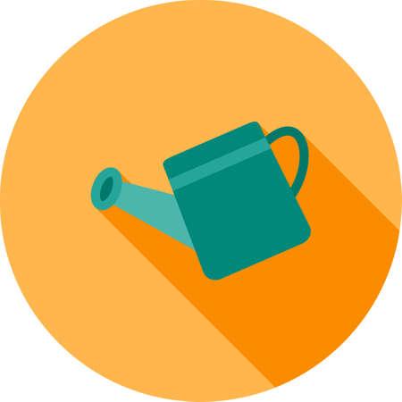 seau d eau: Seau, l'eau, l'étain icône vecteur image.Can également être utilisé pour le jardinage. Convient pour les applications mobiles, les applications Web et les médias imprimés.