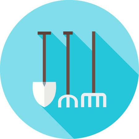 garden maintenance: Garden, fork, maintenance icon vector image.Can also be used for gardening. Suitable for mobile apps, web apps and print media. Illustration