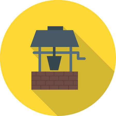 Ebbene, acqua, icona profonda vector image.Can essere utilizzato anche per il giardinaggio. Adatto per applicazioni mobili, applicazioni web e supporti di stampa.